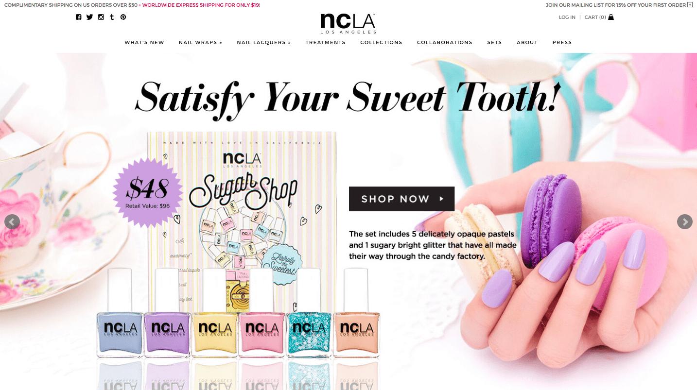 ncLA beauty store