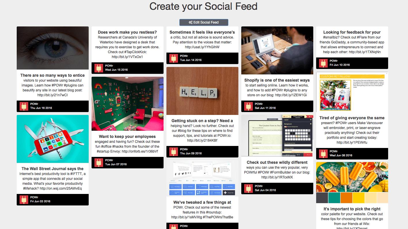POWr Social Feed app