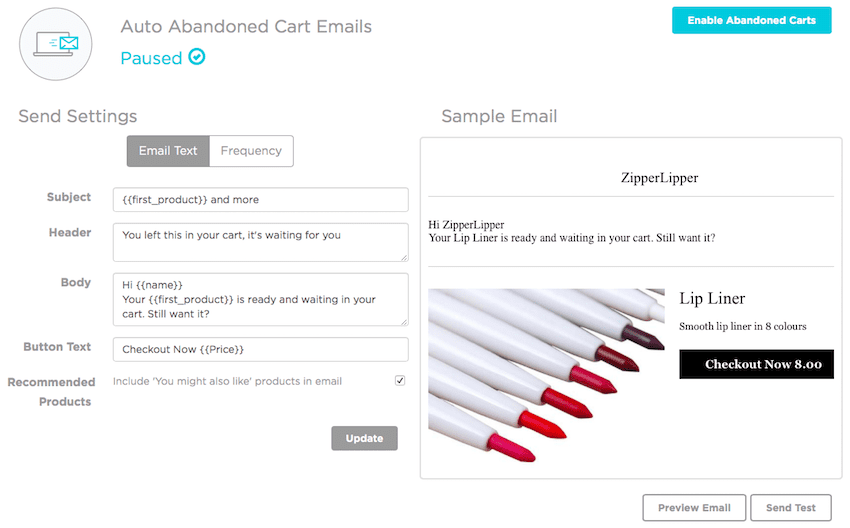 SmartrMail Abandoned Cart Emails