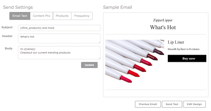 SmartrMail Auto Product Emails