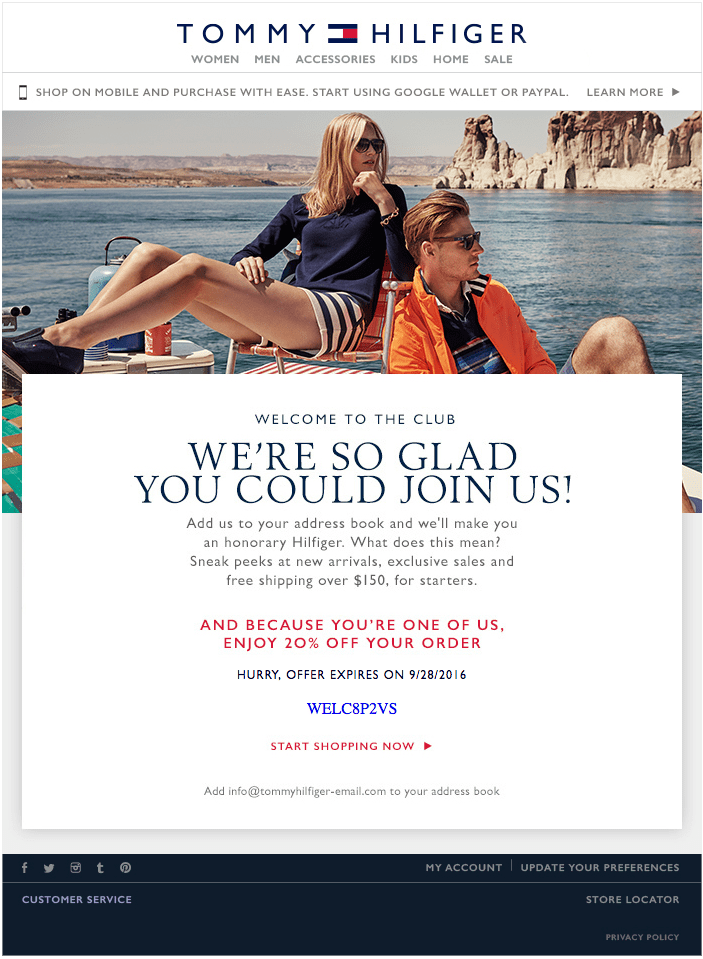 Luxury Fashion Welcome Email