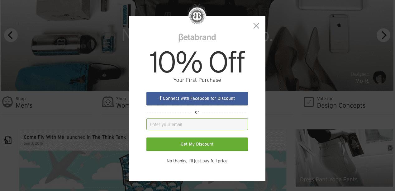 Social Media Discount Popup