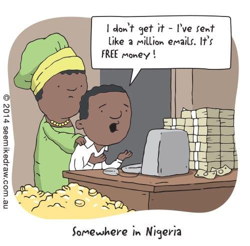 Nigerian prince jokes
