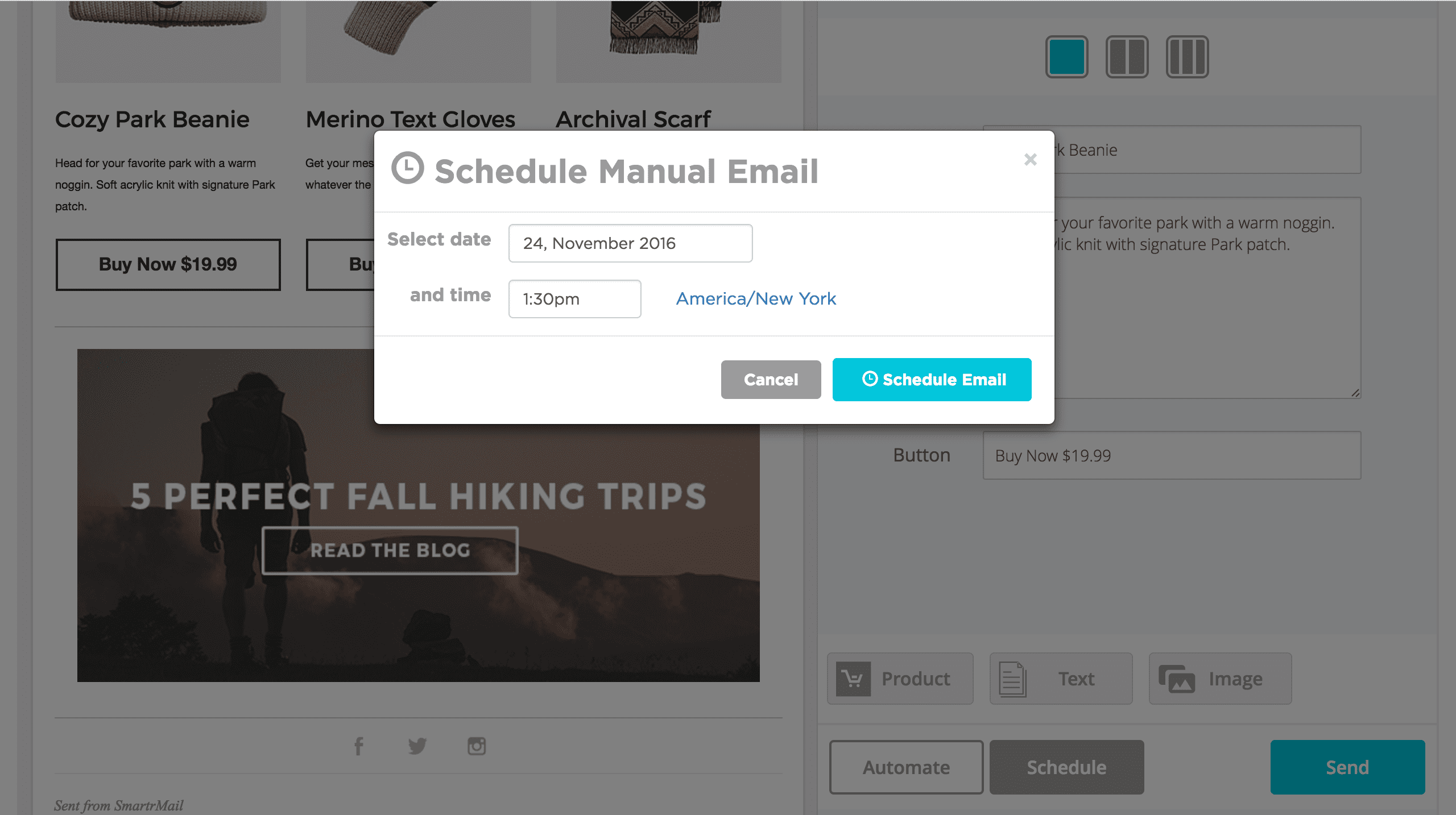 Schedule Email Newsletter