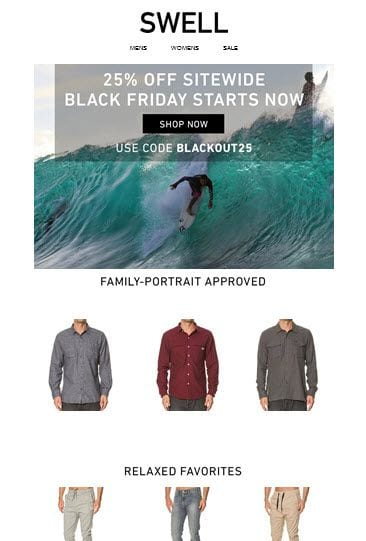 Swell Black Friday Email