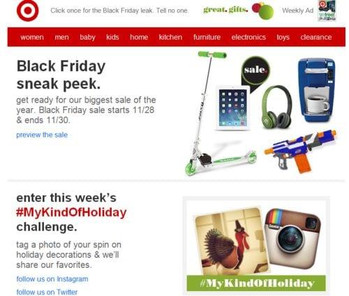 Black Friday Sneak Peak Email