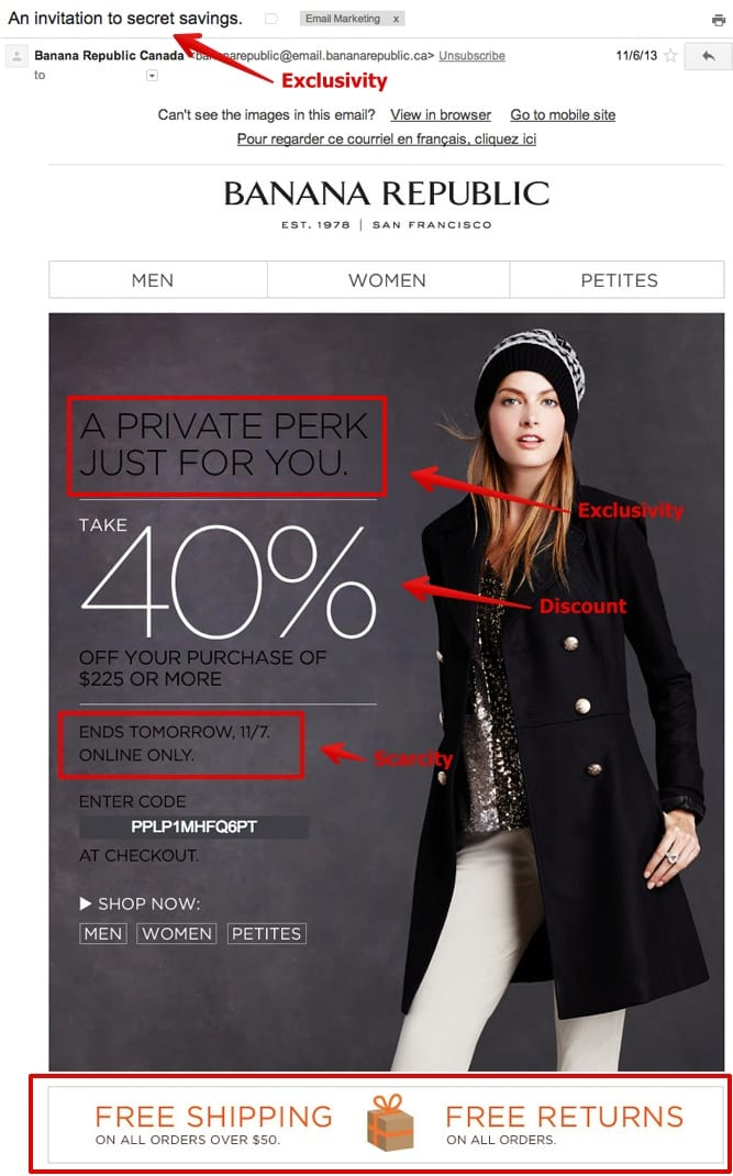 Banana Republic Exclusive Savings