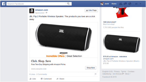 Facebook Amazon Dynamic product ads