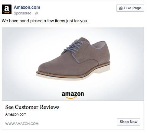 Facebook Personalized Product Ad