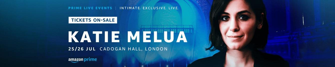 amazon prime live events music concert katie melua reward system exclusive offer