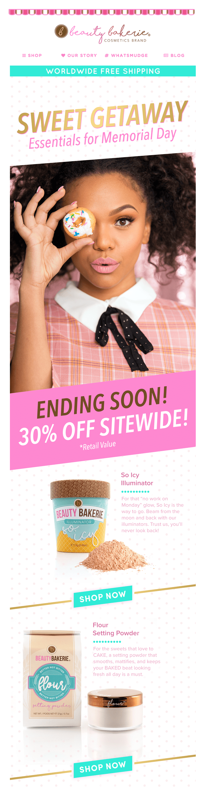 beauty bakerie email newsletter memorial day sale