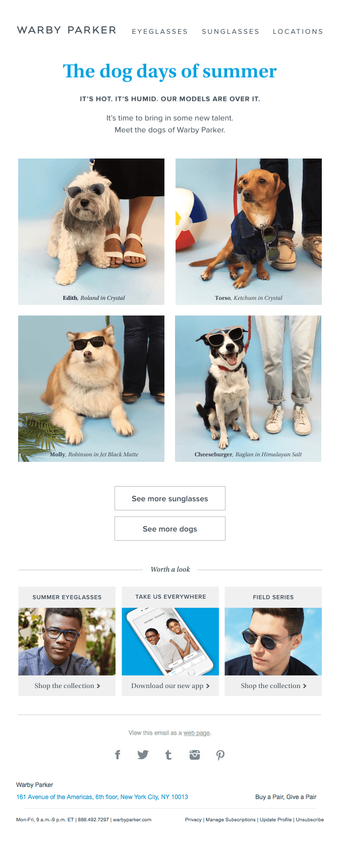 warby park email example