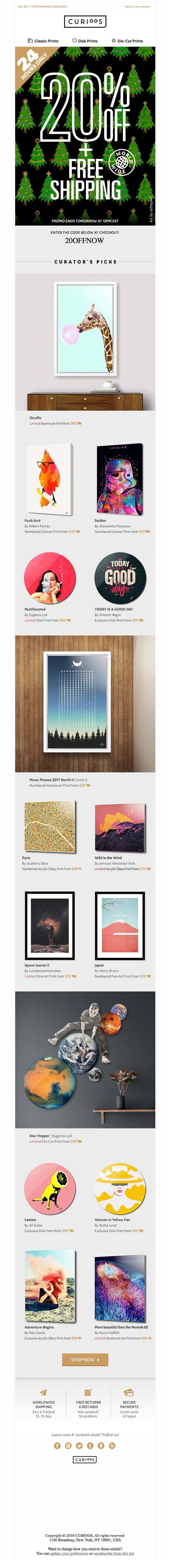 Curioos email example