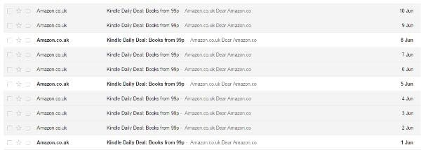 amazon books email marketing personalized product recommendations