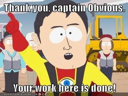 captain obvious south park meme