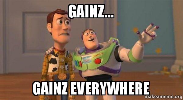 gainz toy story meme health fitness
