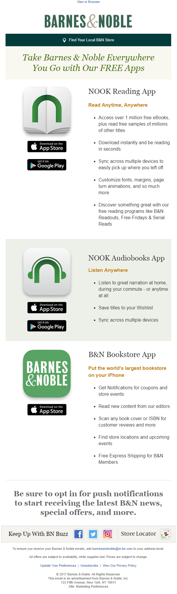 barnes & noble product information education email apps reading nook