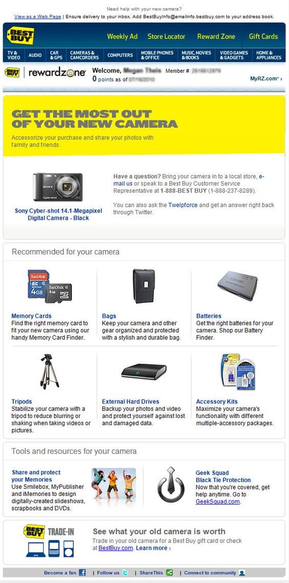 Best Buy Cross-Sell Email