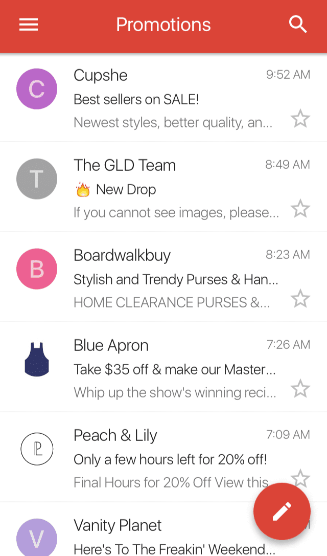 gmail mobile app email subject lines cut off