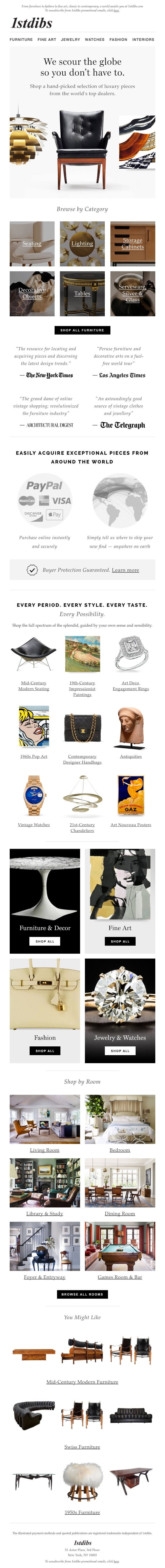 1stdibs email example