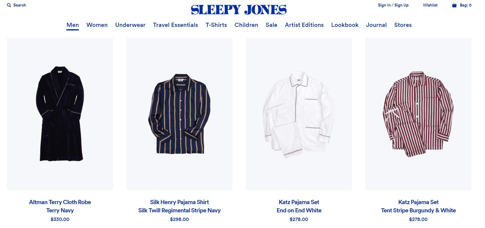 Sleepy Jones email example