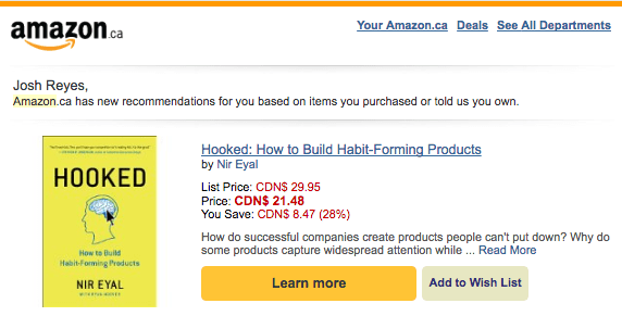 Amazon Cross-Sell Email 2