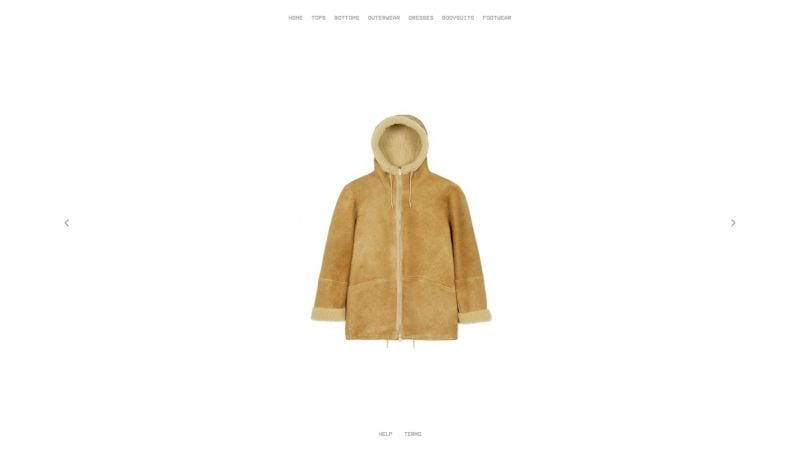 kanye west clothing fashion line minimal shopify plus ecommerce store