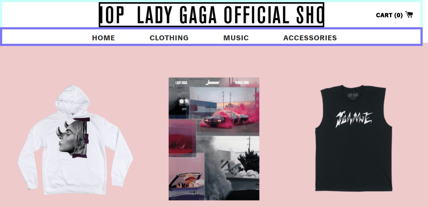 lady gaga official shop ecommerce merch store clothing music accessories joanne album ecommerce store shopify plus