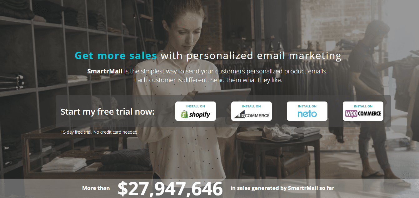 Get more sales with SmartrMail