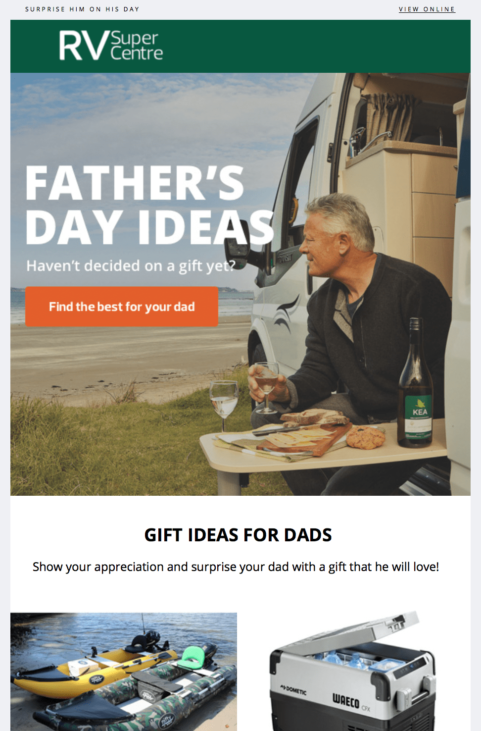 gift idea email example