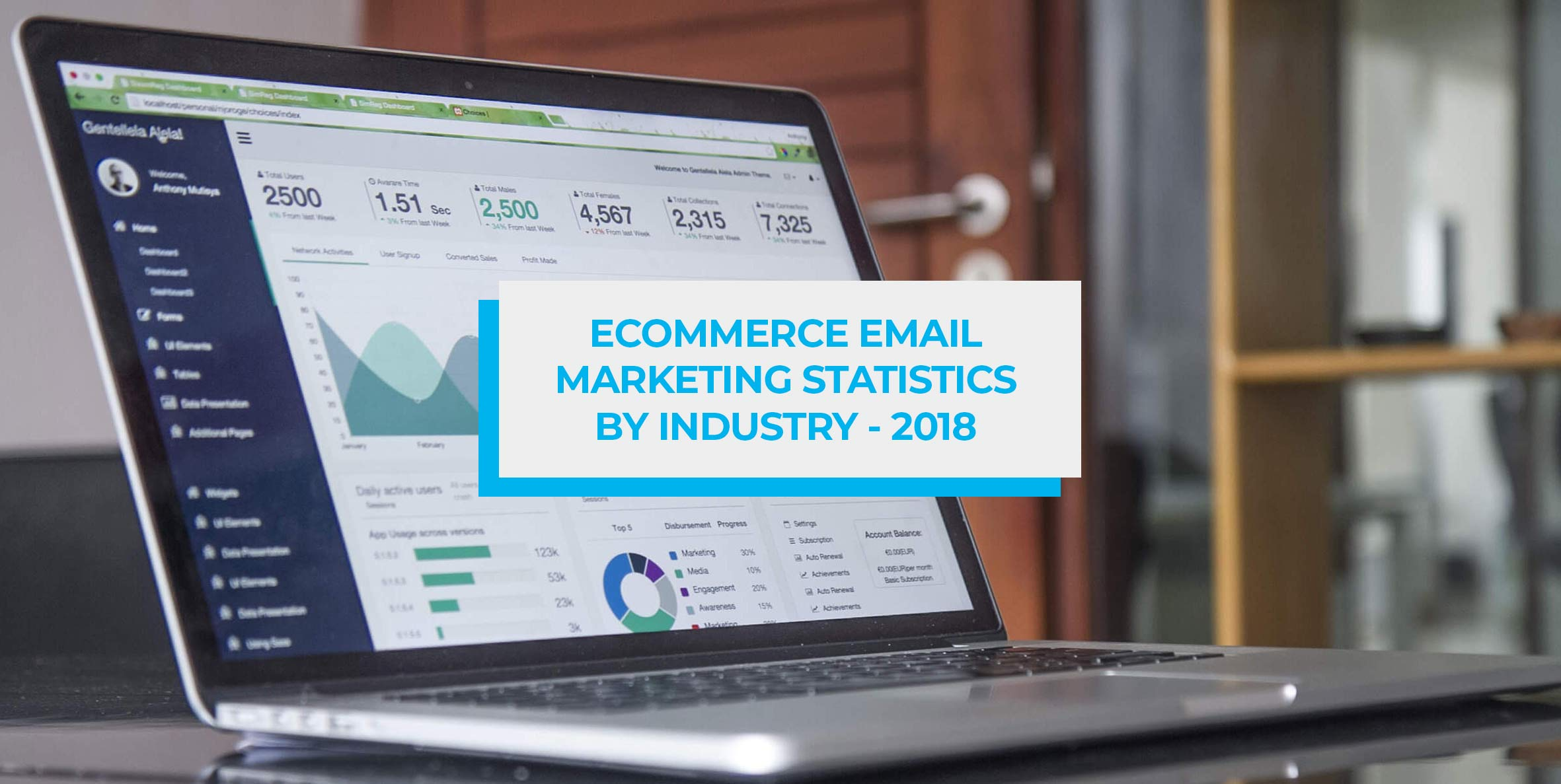 Blog header image email marketing stats by industry