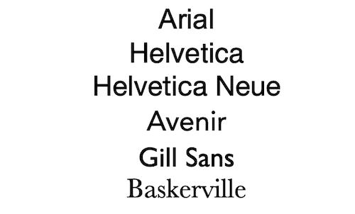 List of professional fonts