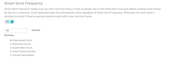 Smart Send Frequency