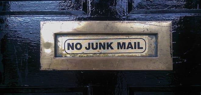 no junk mail box