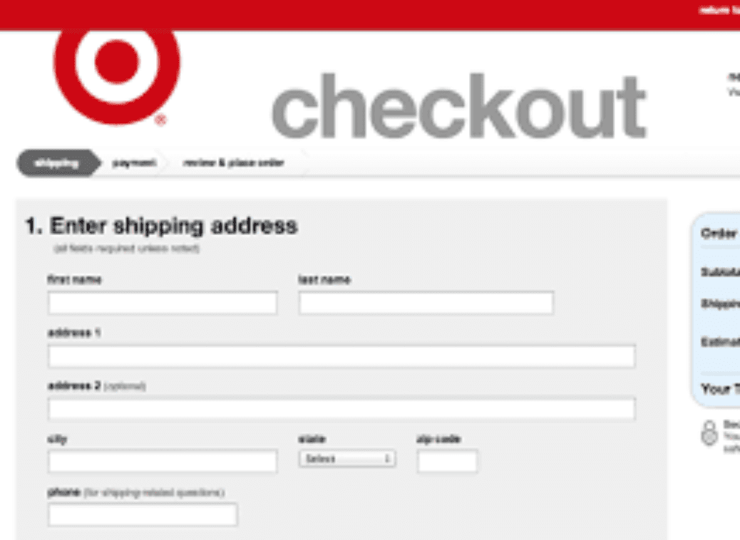 example of a good shopify checkout page