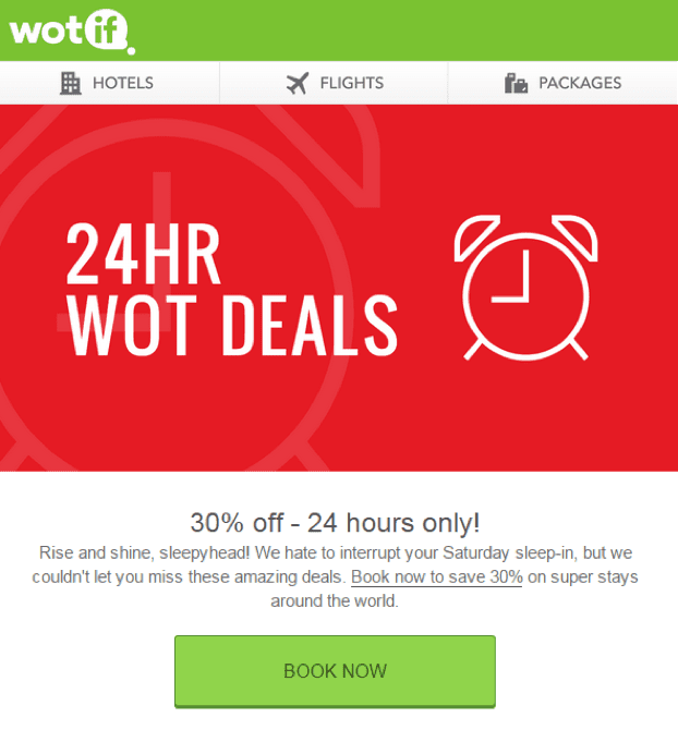 cta in a marketing email example