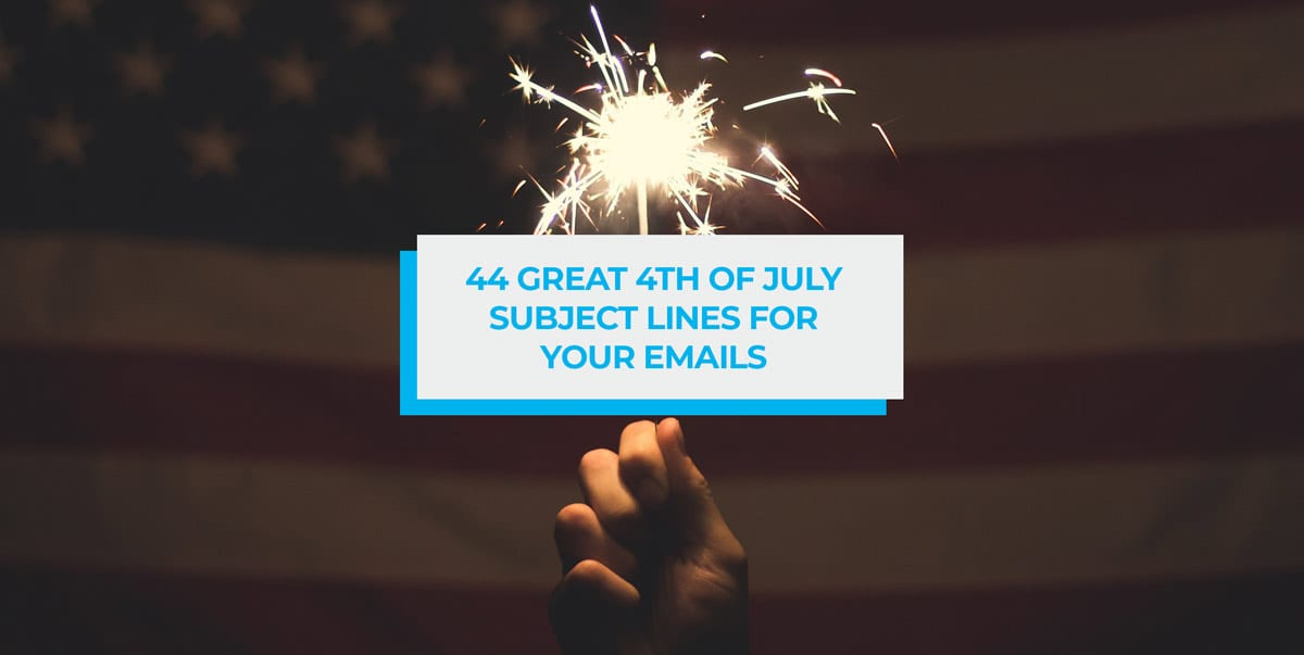 4th of july email subject lines header image