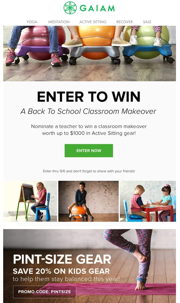 back to school competition email