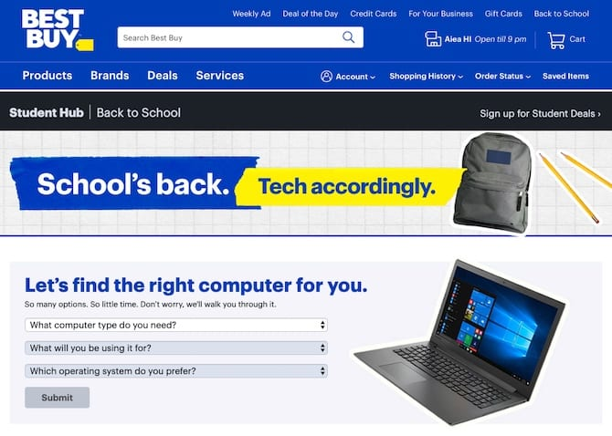 best buy back to school ad campaign