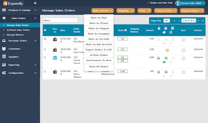 expandly multichannel management for your online store