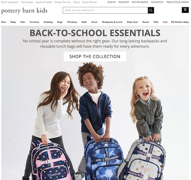 pottery barn kids back to school campaign