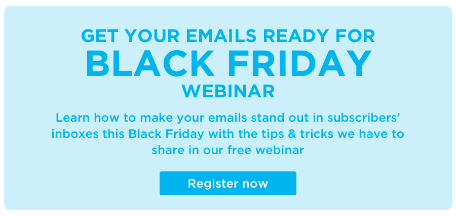 sign up to a free black friday email marketing webinar
