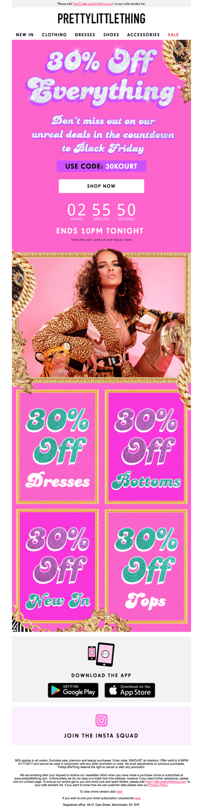 colorful black friday email