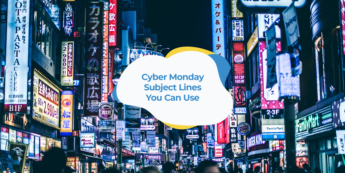 cyber monday subject lines header image