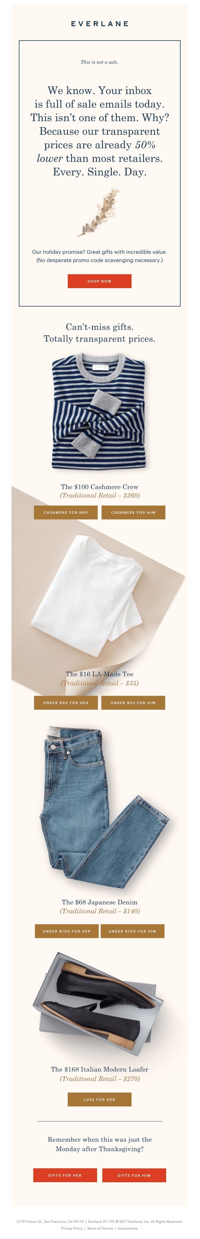 everlane anti-cyber monday email