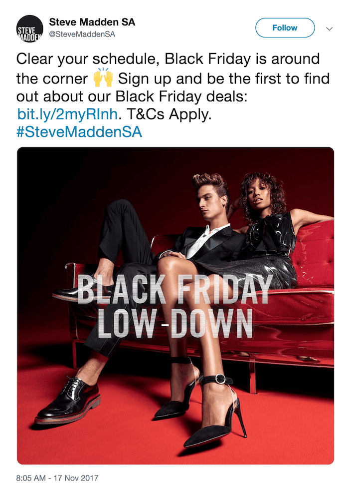 steve madden email black friday campaign