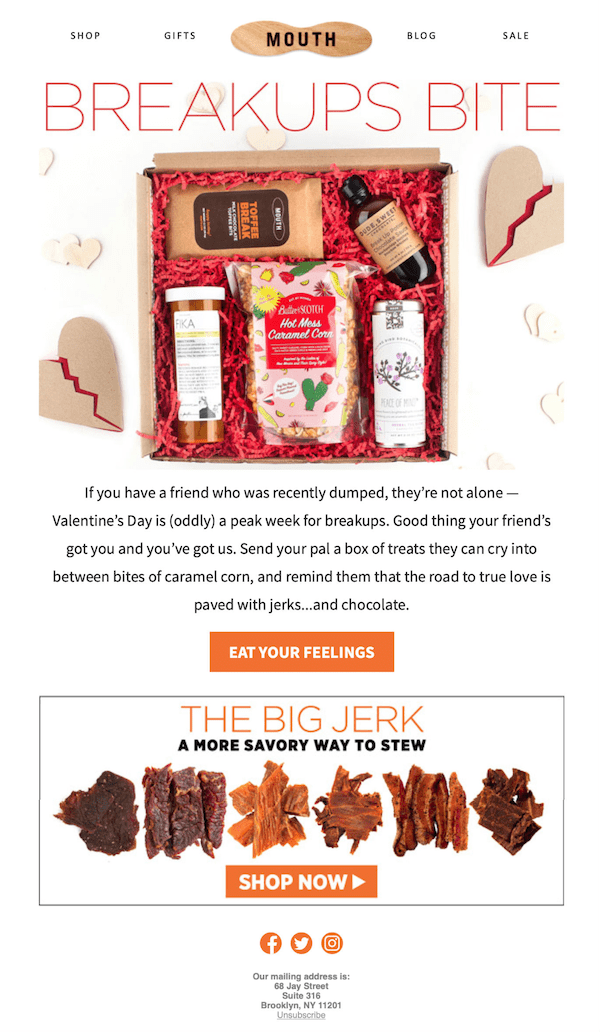 creative valentine's day email