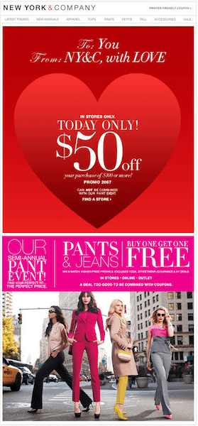 example of valenetine's day email