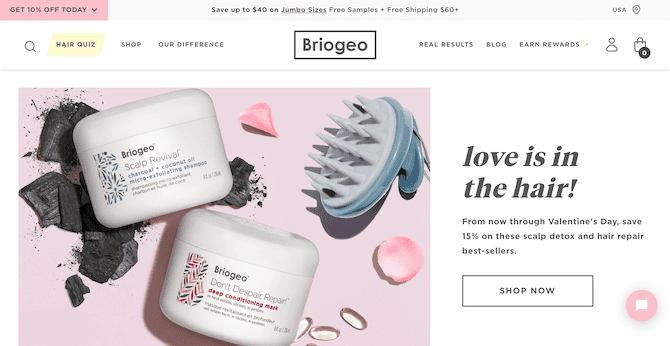 briogeo homepage