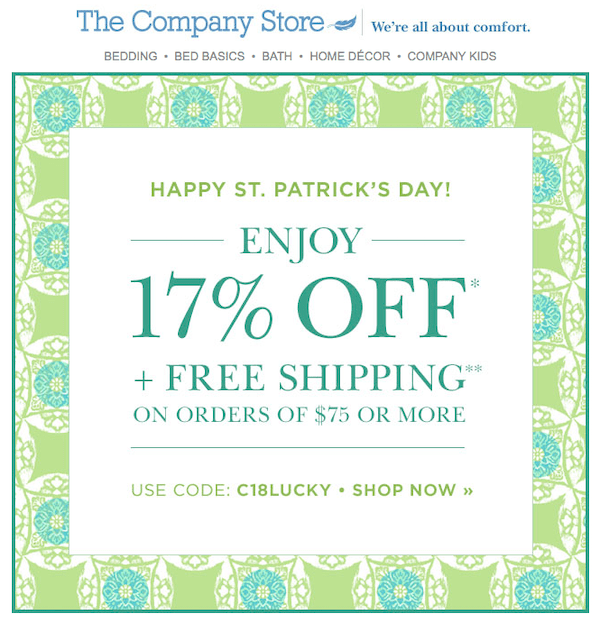 the company store email example